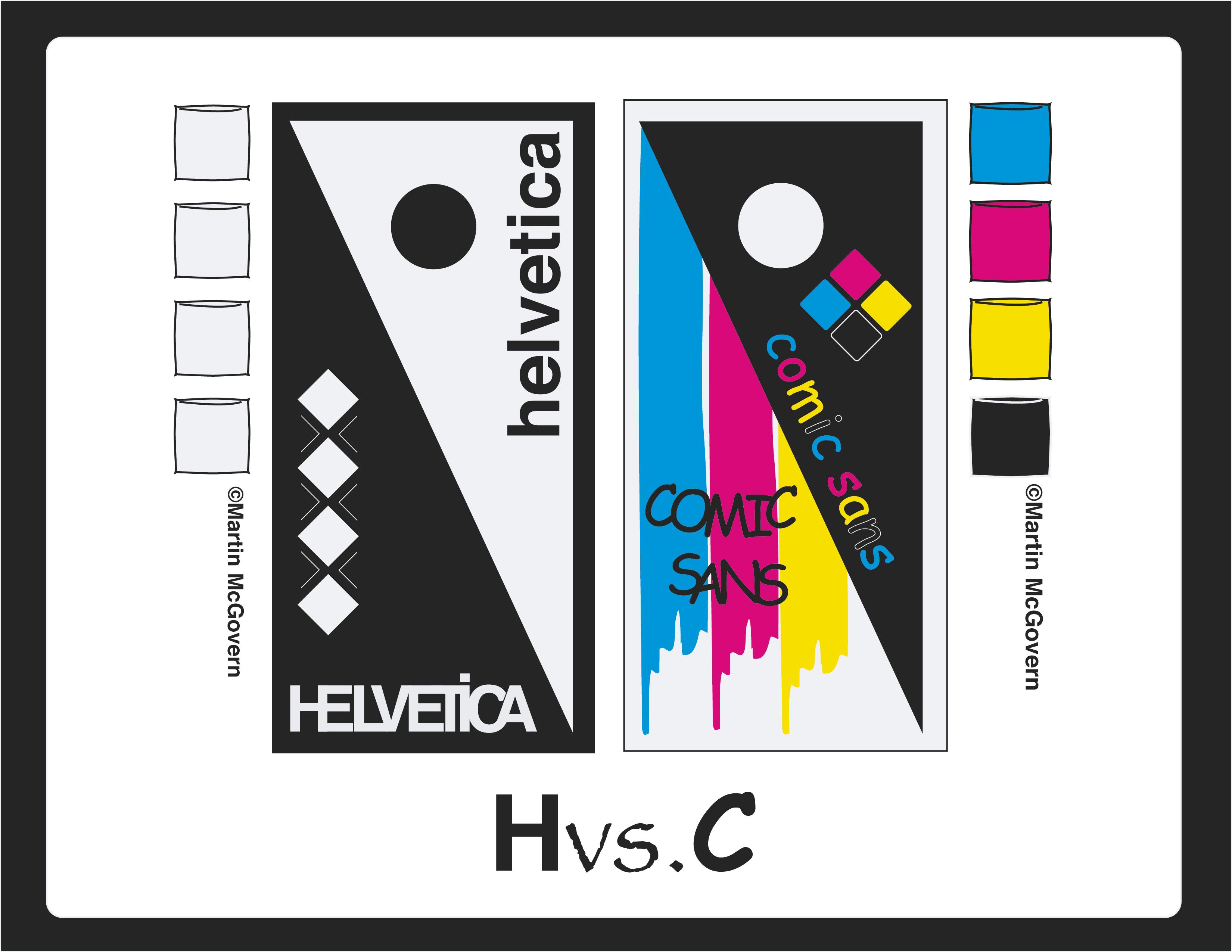 Helvetica vs. Comic Sans