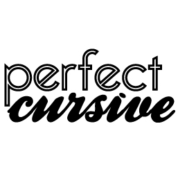 perfect cursive logo full
